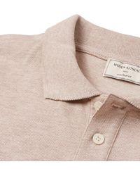Maison Kitsuné - Gray Slim-fit Cotton-piqué Polo Shirt for Men - Lyst