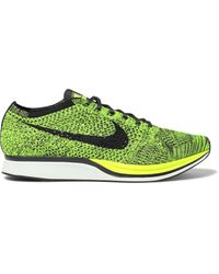 dfeec8c0e0945 Nike Flyknit Racer Mesh Sneakers for Men - Lyst
