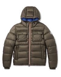 Moncler | Green Morane Quilted Shell Hooded Down Jacket for Men | Lyst