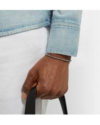 M. Cohen - Metallic Sterling Silver Bead Bracelet for Men - Lyst