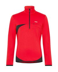 Colmar - Red Fleece-back Half-zip Mid-layer Ski Top for Men - Lyst