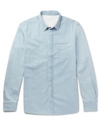 Officine Generale - Blue Lipp Slim-fit Selvedge Denim Shirt for Men - Lyst