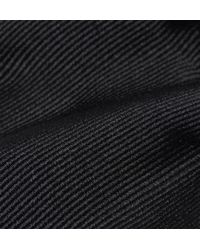 Saint Laurent - Black Striped Jacquard Silk Necktie for Men - Lyst