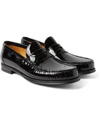 Dolce & Gabbana | Black Patent-leather Penny Loafers for Men | Lyst