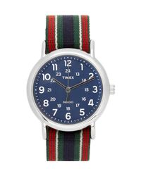 Timex   Blue Archive Weekender Stainless Steel And Webbing Watch for Men   Lyst