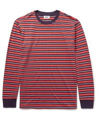 Sleepy Jones | Red Powell Striped Cotton-jersey Pyjama T-shirt for Men | Lyst