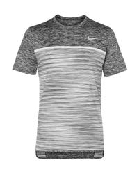 Nike | Black Court Dry Challenger Space-dyed Dri-fit Tennis T-shirt for Men | Lyst
