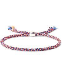 Paul Smith | Red Woven Silk Silver-tone Bracelet | Lyst