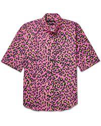 Marc Jacobs | Pink Lenny Slim-fit Button-down Collar Leopard-print Cotton Shirt for Men | Lyst
