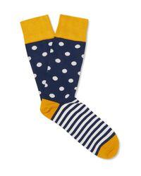 Corgi   Blue Patterned Cotton-blend Socks for Men   Lyst