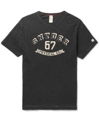 Todd Snyder - Black Slim-fit Printed Slub Cotton-jersey T-shirt for Men - Lyst