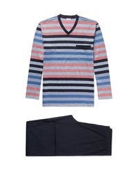 Zimmerli | Blue Striped Cotton Pyjama Set for Men | Lyst