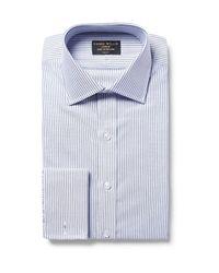 Emma Willis   Blue Slim-fit Bengal-striped Cotton Oxford Shirt for Men   Lyst