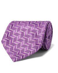 Charvet   Purple 8.5cm Woven Silk Tie for Men   Lyst