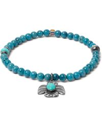 Peyote Bird - Blue Lapis, Turquoise And Sterling Silver Bracelet for Men - Lyst