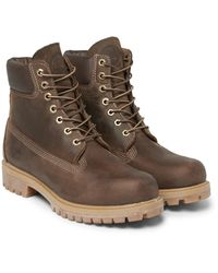 Timberland Brown Heritage Leather Boots for men