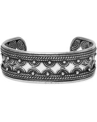 Saint Laurent - Metallic Burnished Silver-tone Cuff for Men - Lyst