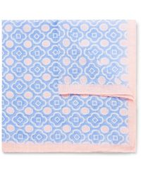 Anderson & Sheppard - Pink Printed Cotton-voile Pocket Square for Men - Lyst