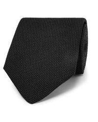 SALLE PRIVÉE - - 8cm Textured-silk Tie - Black for Men - Lyst