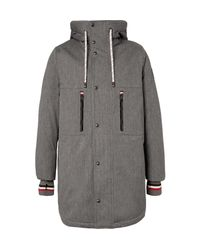 Moncler Gamme Bleu - Gray Faux Shearling-lined Cotton-blend Twill Down Coat for Men - Lyst