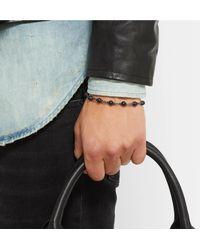 David Yurman - Blackened Sterling Silver Onyx Bracelet for Men - Lyst