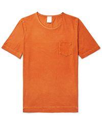 Massimo Alba - Orange Panarea Garment-dyed Cotton-jersey T-shirt for Men - Lyst