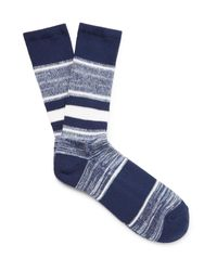 Anonymous Ism | Blue Striped Jacquard-knit Socks for Men | Lyst