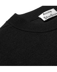 Acne - Black Nicha Wool-blend Sweater for Men - Lyst