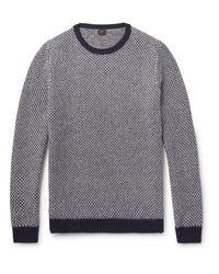 Mp Massimo Piombo   Gray Birdseye Wool Sweater for Men   Lyst