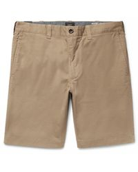 J.Crew - Natural Stanton Slim-fit Stretch-cotton Twill Shorts for Men - Lyst