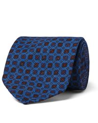 Rubinacci - Blue 8.5cm Printed Silk-faille Tie for Men - Lyst