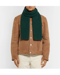 Anderson & Sheppard - Green Ribbed Cashmere Scarf for Men - Lyst