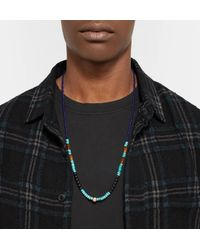 Luis Morais - Metallic Bead, Gold-tone And Multi-stone Necklace for Men - Lyst