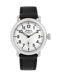 Shinola - Black The Runwell 36mm Stainless Steel And Leather Watch for Men - Lyst