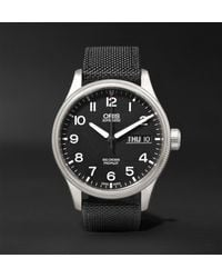 Oris - Black Big Crown Propilot Day-date 45mm Stainless Steel And Canvas Watch for Men - Lyst