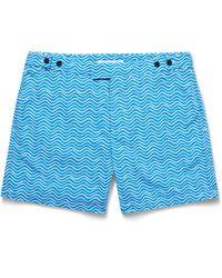 Frescobol Carioca - Blue Ondas Printed Mid-length Swim Shorts for Men - Lyst