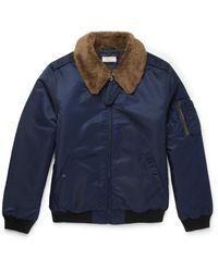 J.Crew - Blue Slim-fit Nylon-twill Bomber Jacket for Men - Lyst