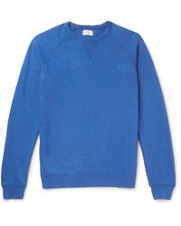 Hartford - Blue Mélange Loopback Cotton-jersey Sweatshirt for Men - Lyst
