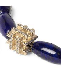 Luis Morais - Blue Lapis, Gold And Diamond Bracelet for Men - Lyst