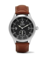 Techne - Black Merlin 246 Stainless Steel And Leather Watch for Men - Lyst