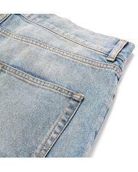 Saint Laurent - Blue Skinny-fit 15cm Hem Distressed Denim Jeans for Men - Lyst