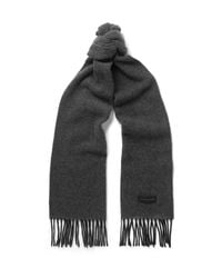 Paul Smith - Gray Cashmere Scarf for Men - Lyst