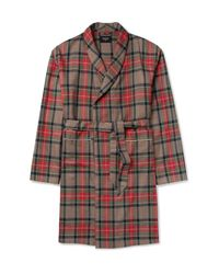 Fear Of God - Red Contrast-tipped Checked Wool Coat for Men - Lyst