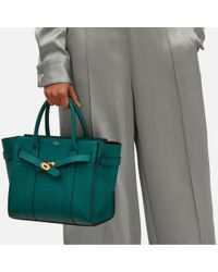 Mulberry - Green Small Zipped Bayswater - Lyst