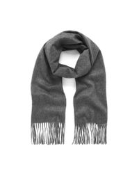 Mulberry - Gray Cashmere Scarf - Lyst