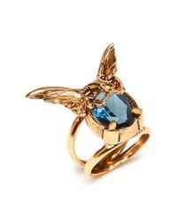 Mulberry | Blue Bat Ring | Lyst