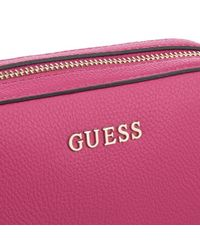 Guess - Pink Isabeau Mini Cross Body Top Zip Bag - Lyst