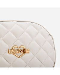 Love Moschino - Natural Quilted Round Small Cross Body Bag - Lyst