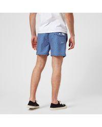 Ted Baker - Blue Caven Patterned Swim Shorts for Men - Lyst