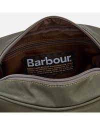 Barbour | Green Drywax Wash Bag | Lyst